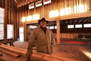 Raymond Plank at the museum and library construction site