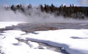 Lower Geyser Basin in Yellowstone National Park