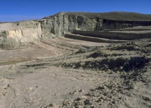 Abandoned mine land at Gas Hill in Wyoming