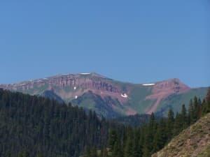 A mountain peak in Wyoming Range