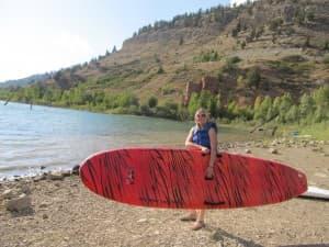 Grace Hammond at Slide Lake near Jackson