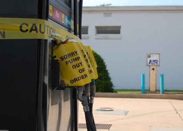 Broken pumps at a Pennsylvania gas station