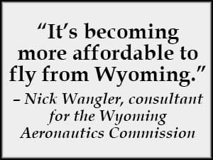 Nick Wangler, consultant for the Wyoming Aeronautics Commission