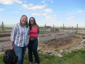 Kristy Mogen (left) and Janice Switzer, both residents of Clear View Acres subdivision east of Douglas, have lived with drilling and flaring activities since early 2012. (Dustin Bleizeffer/WyoFile — click to enlarge)