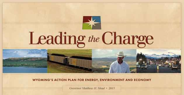 The cover page to Governor Matt Mead's Action Plan for energy production in Wyoming, which doesn't address climate change.