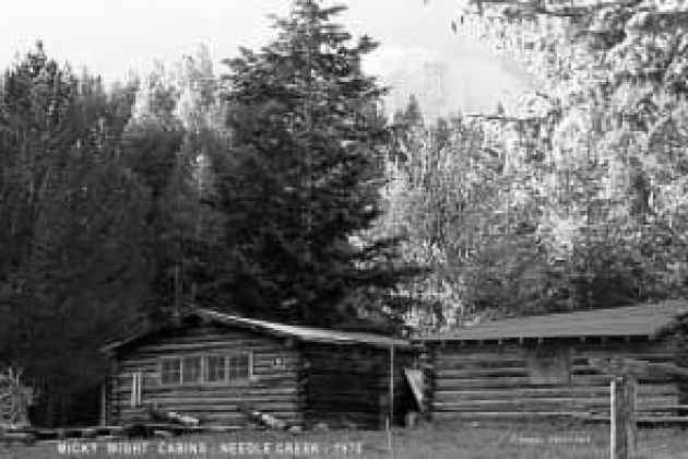 Some of the threatened cabins photographed in 1975. (Photo Courtesy Dewey Vanderhoff)