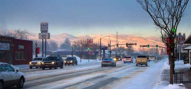 Main Street, Lander, Wyoming