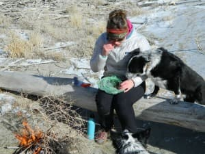 winter hiking - wyoming