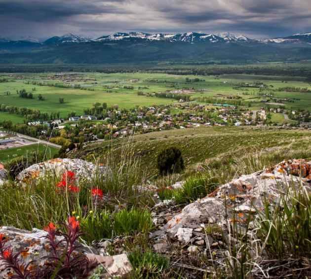 Jackson, Wyoming in spring