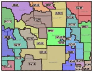 Wyoming Senate Districts (Legislative Service Office — click to enlarge)