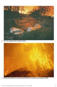 A rare set of photographs from a report completed after a firefighting crew in the Washakie Wilderness of the Shoshone National Forest hid for an hour in their fire shelters when the Little Venus Fire overran them in 2006. They survived, but 426 other wildland firefighters have been burned to death since the early 1900s, 15 of them in Wyoming. (click to enlarge)