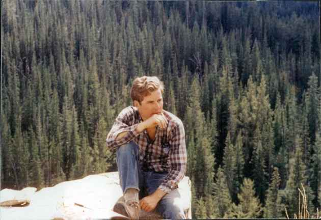 Loring Woodman sits in the Gros Ventre Mountains, sometime in the 1970s. Woodman, who owned the Darwin Ranch, became one of the state's biggest advocates for the Wyoming Wilderness Act of 1984. This year marks the 30th anniversary of the act passing. (courtesy Loring Woodman — click to enlarge)