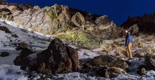 Night hike through the Wyoming wilderness. (Location undisclosed - click to enlarge)