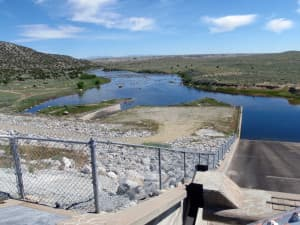 The Legislature's Select Water Committee wants to fund rehabilitation of the Bull Lake Dam spillway, even though the Wyoming Water Development Commission did not recommend spending money on the project. The federal government will pay $24 million for the upgrade. (Annika Walters—click to enlarge)
