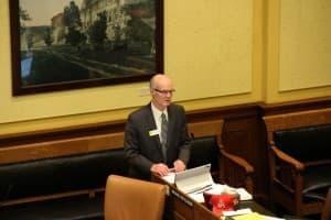 Sen. Michael Von Flatern (R-Gillette) sponsored Senate File 129 - SHARE Plan and opposed Scott's amendment. (Gregory Nickerson/WyoFile)