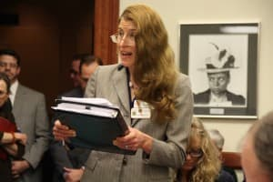 Donna Adler, lobbyist with the Catholic Diocese of Cheyenne. (Gregory Nickerson/WyoFile)