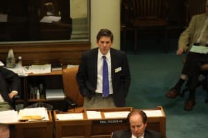 Sen. Phil Nicholas (R-Laramie) urged the Senate to give SF 129 three hearings. (Gregory Nickerson/WyoFile)
