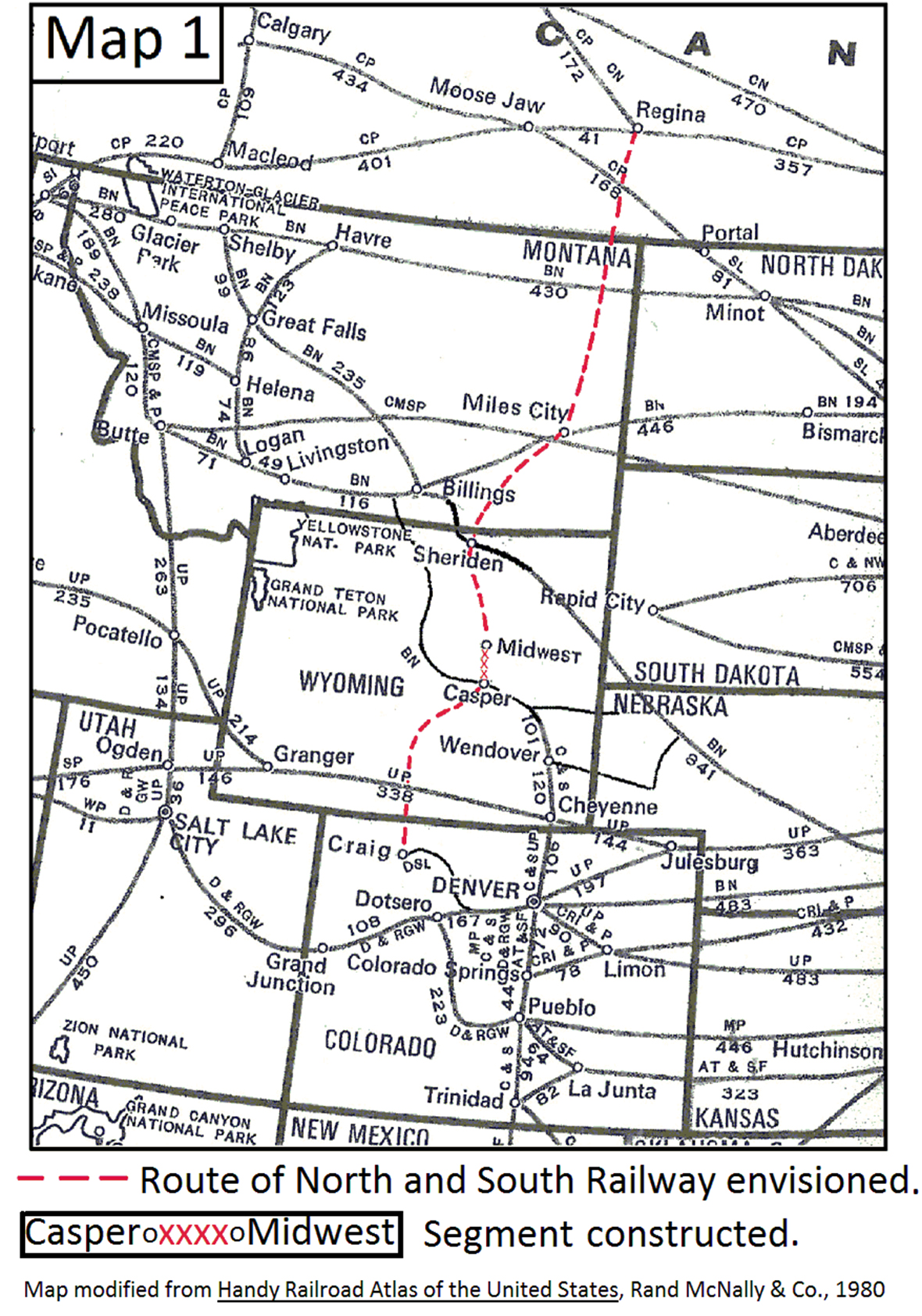 The Wyoming North and South Railroad, 1923-1935