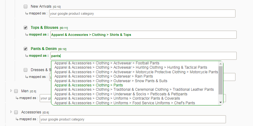 missing recommended attribute google product category