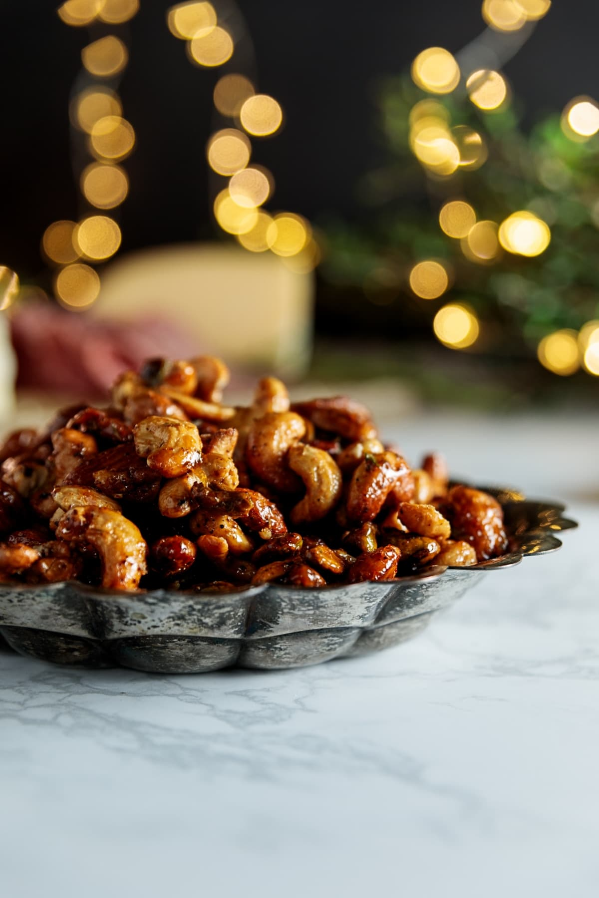 Candied Curry Nuts + My Holiday Party | Wyse Guide