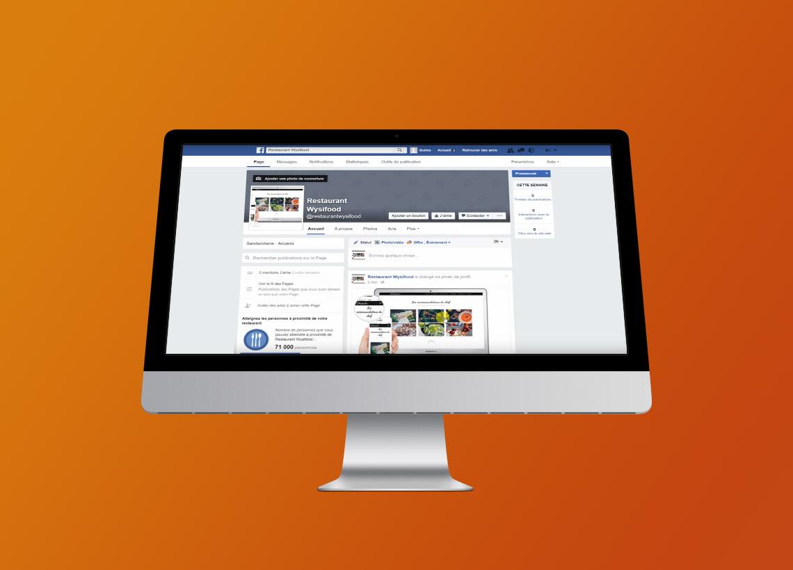Page Facebook restaurant