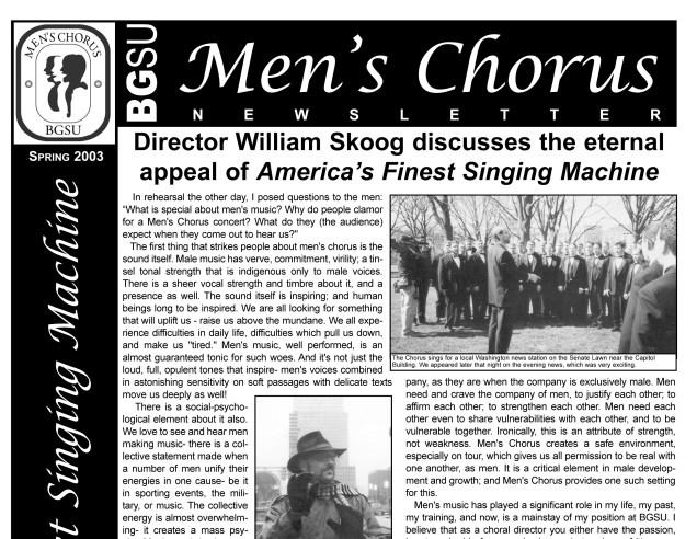 Men's Chorus Newsletter