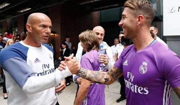 Sergio Ramos Tak Terima Zinedine Zidane Disalahkan