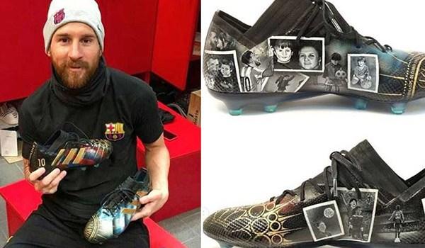 Lionel Messi Kembali Lagi Dihadiahi Sepatu Yang Sangat Istimewa