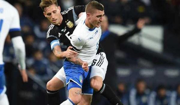 Laporan Pertandingan Sepakbola Timnas Argentina VS Timnas Italia
