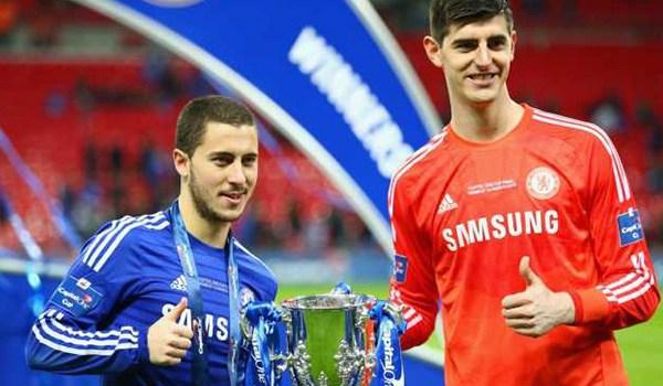 Cara Chelsea Pertahankan Eden Hazard dan Thibaut Courtois
