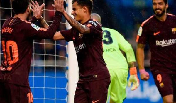 Laporan Pertandingan Sepakbola Deportivo La Coruna VS Barcelona