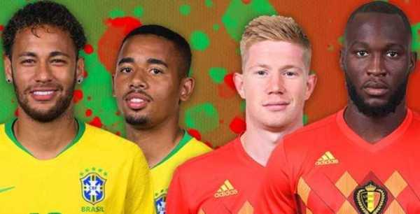 Prediksi Skor Brasil VS Belgia Piala Dunia 07 Juli 2018