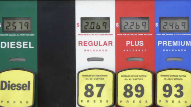Gas prices are off the average by 10 cents for the week_46794