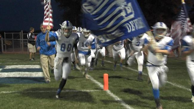 The Blue Devils host Brookfield Saturday in what's the 20th anniversary season of their lone State Championship._57531