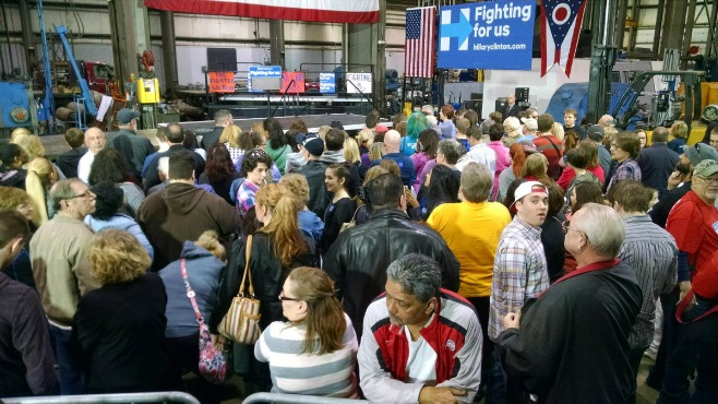 Hillary Clinton speaks at rally in Youngstown_70797