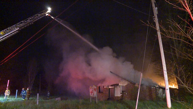 Trumbull FIU investigating abandoned church fire_77240