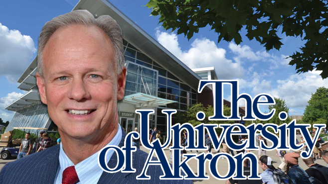 President Scott L. Scarborough steps down as head of the University of Akron._80873