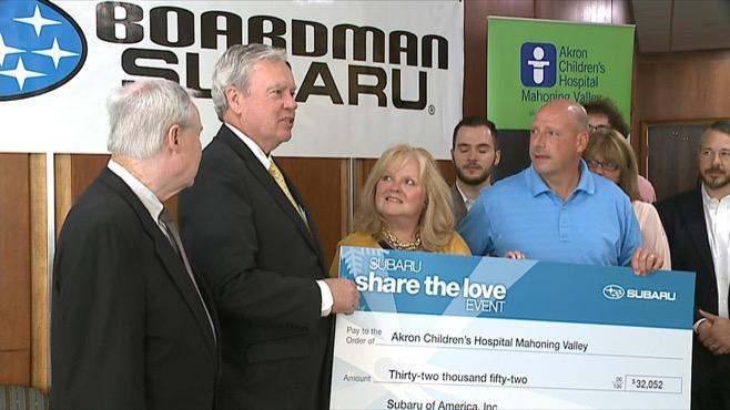 subaru akron childrens donation boardman_82107