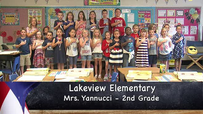 Mrs. Yannucci - Lakeview Elementary - 2nd Grade - Pledge of Allegiance_136054