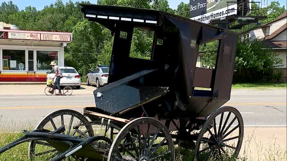 Troopers: Amish buggy pulling out into traffic gets hit by car in