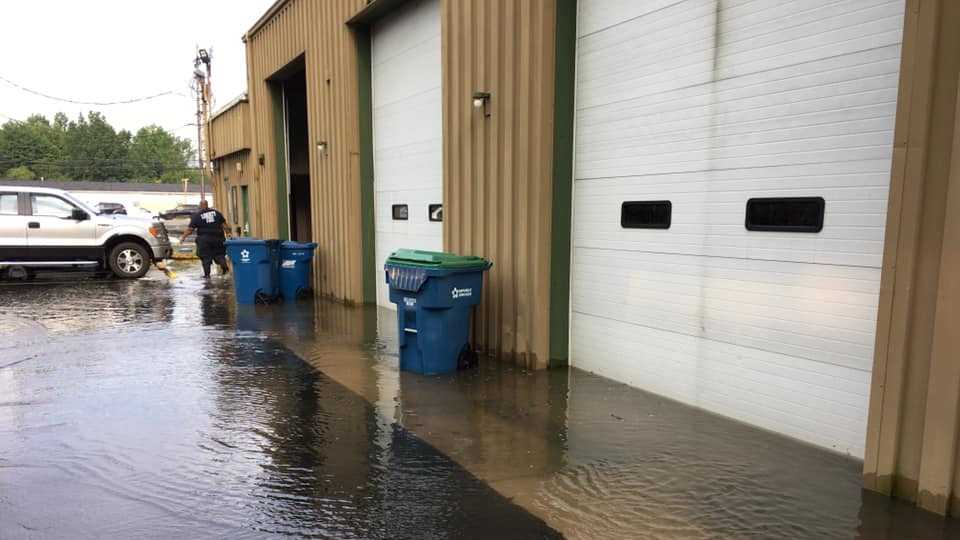 Liberty Fire Station flooded