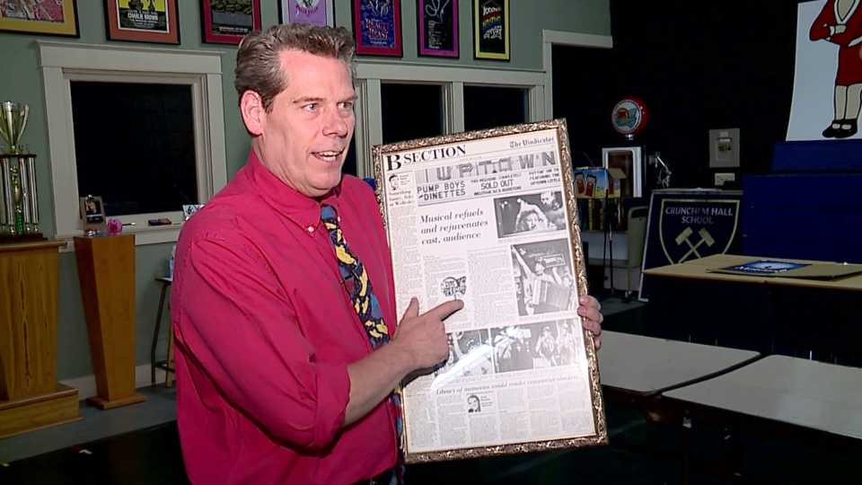 Todd Hancock, of Youngstown's Easy Street Productions, reacts to The Vindicator's closure