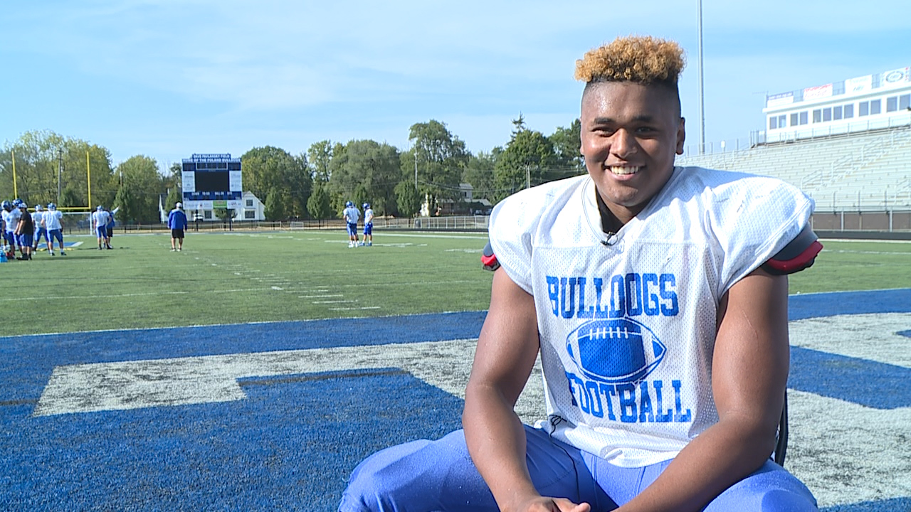 The Poland senior is a standout lineman for the Bulldogs with a 4.0 GPA and a 34 on his ACT.