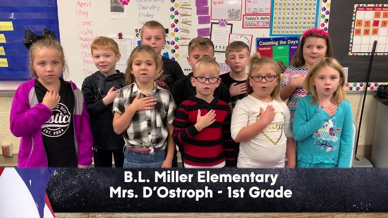 """B.L. Miller Elementary - Mrs. D""""Ostroph - 1st Grade"""