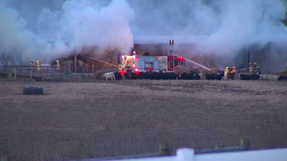 Hanoverton barn fire