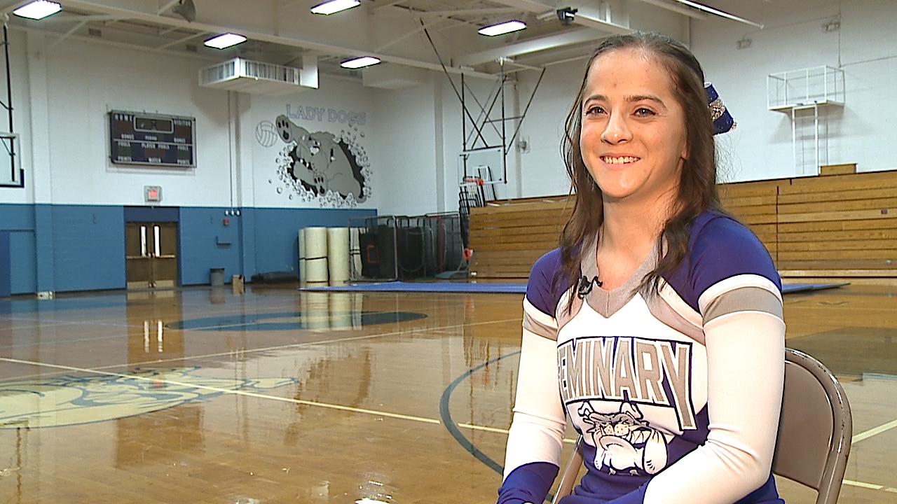 The Poland senior is a senior captain and four-time qualifier to the World Cheerleading Championships, with a 3.8 GPA.