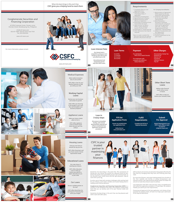 Conglomerate Securities and Financing Corporation Booklet Layout and Design
