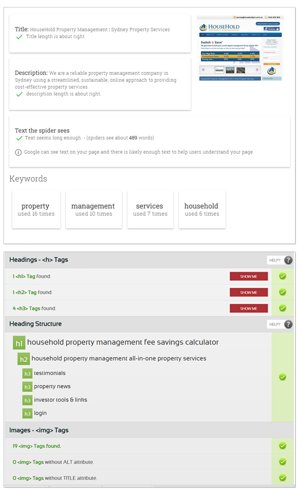 Household Property Management SEO Result Preview