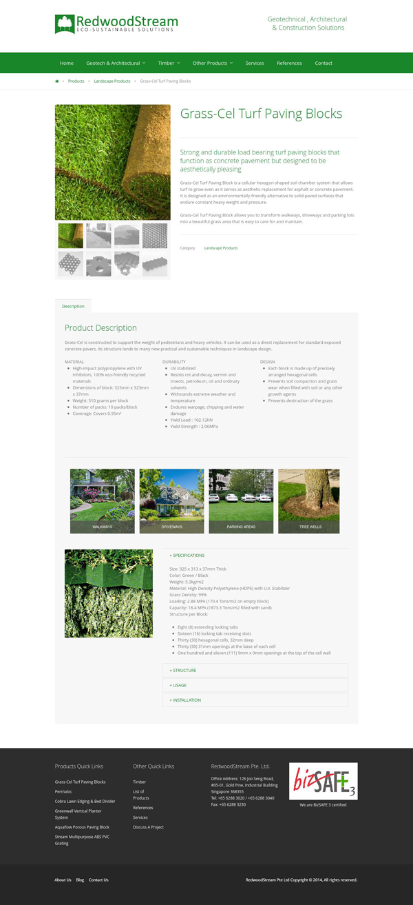 RedwoodStream Product Item Page
