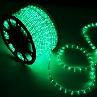 150' Green LED Rope Light - Home Outdoor Christmas ...